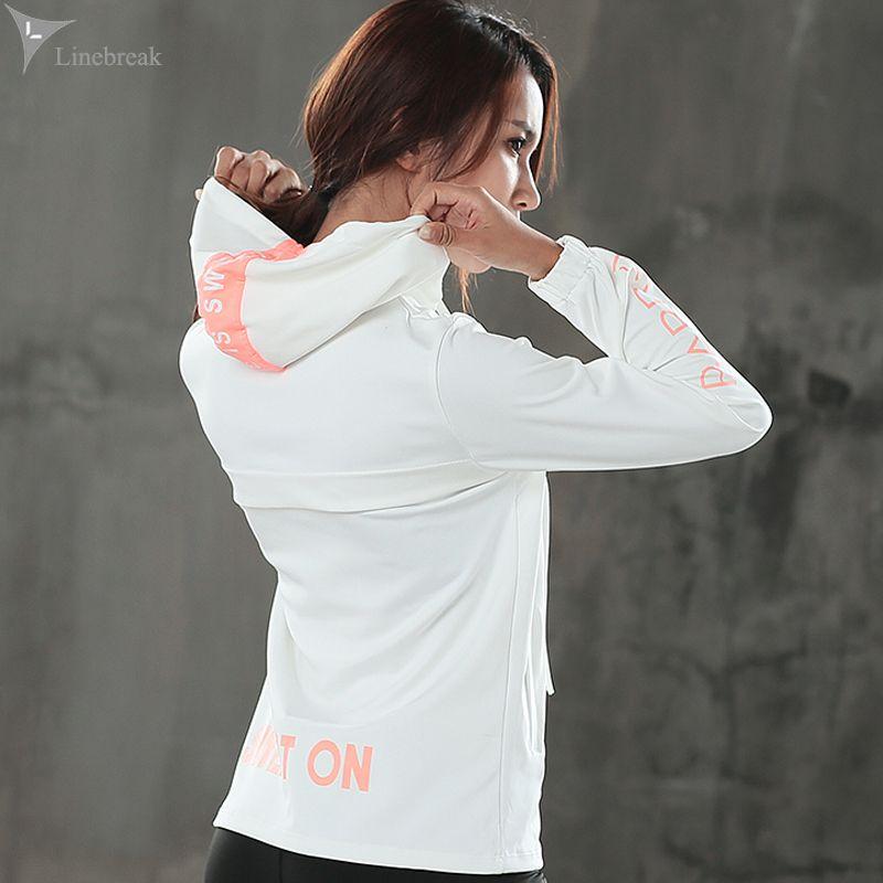 Frauen Sport Jacke Mit Kapuze Winter Laufende Jacken Winddicht Langarm Sport Anzug Fitness Gym Yoga Training Jogging Oberbekleidung