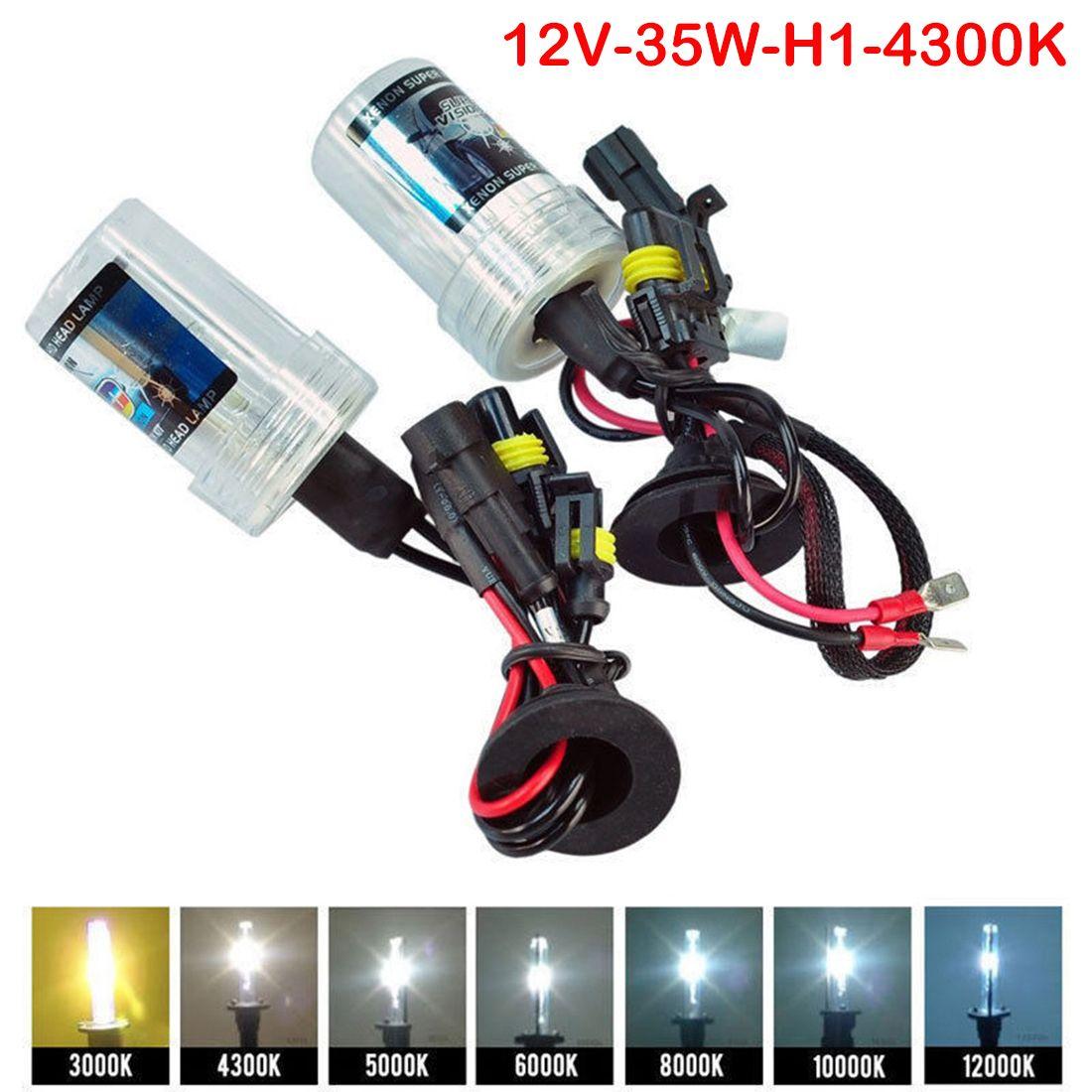 Tonewan 2 шт. 35 Вт ксеноновые лампы фар авто головного света H1 H4 H11 4300 К 5000 К 6000 К 8000 К авто Замена
