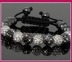 Pengiriman Gratis! 10 Mm Baru Buatan Tangan Gaya Disko Bola Beads Pria Bggh Kristal Gelang Kristal. Standar Wanita Perhiasan Shamballa