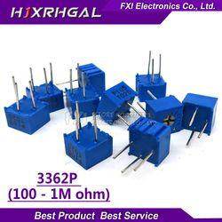 10pcs 3362P series resistance 101 201 501 102 202 502 103  Trimpo Trimmer Potentiometer 3362 500R 1K 2K 5K 10K 20K 50K 100K