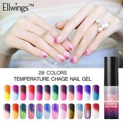 Ellwings Gel Nail Polish Temperature Change UV Gel Lacquer Temperature Changing Color Varnish Manicure Thermo Gel Polish