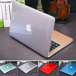 2016 nuevo cristal transparente mate case para apple mac book air pro retina 11 12 13 15 bolsa de ordenador portátil para el caso de macbook air 13 cubierta