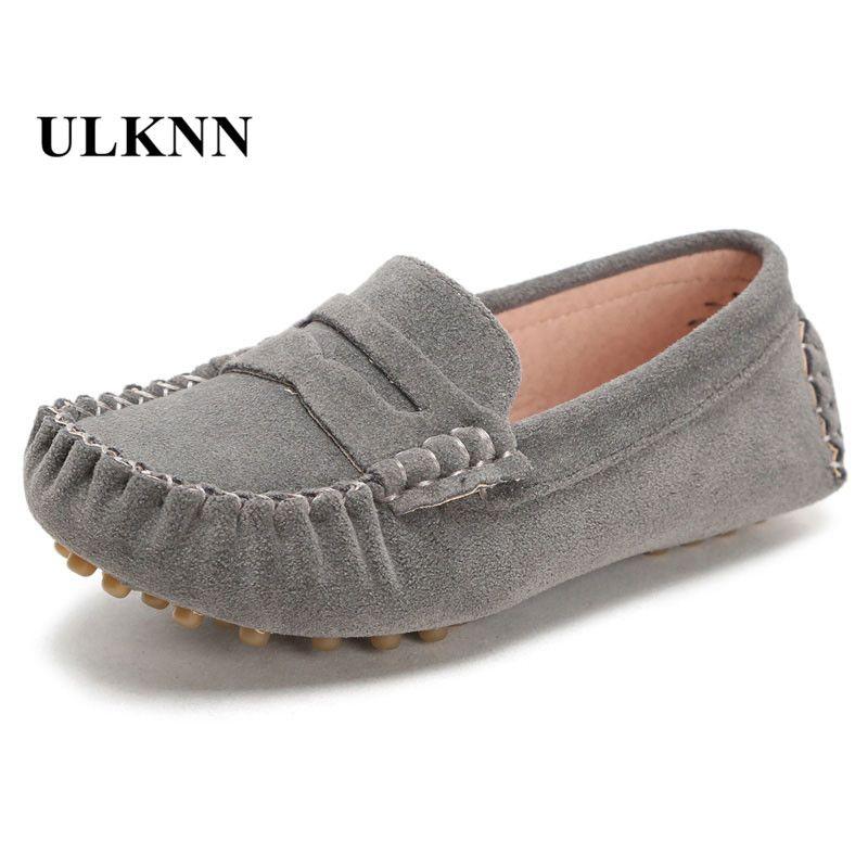 Pieles de animales Calzado informal para niños casual Zapatos de cuero niños 2017 moda nuevos guisantes zapato para Niños bebé al aire libre Niñas 7 colores de gran tamaño