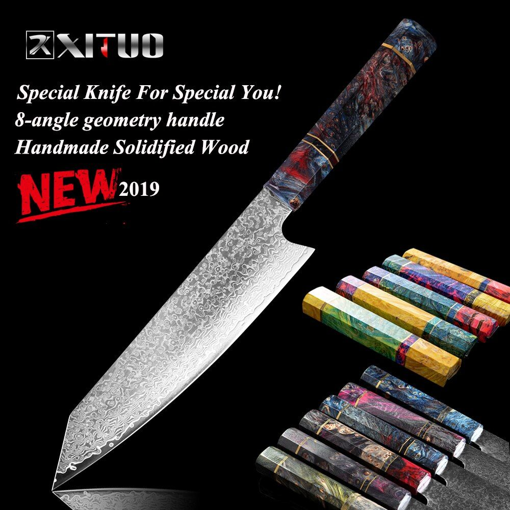 XITUO Damascus Chef's Knife 8