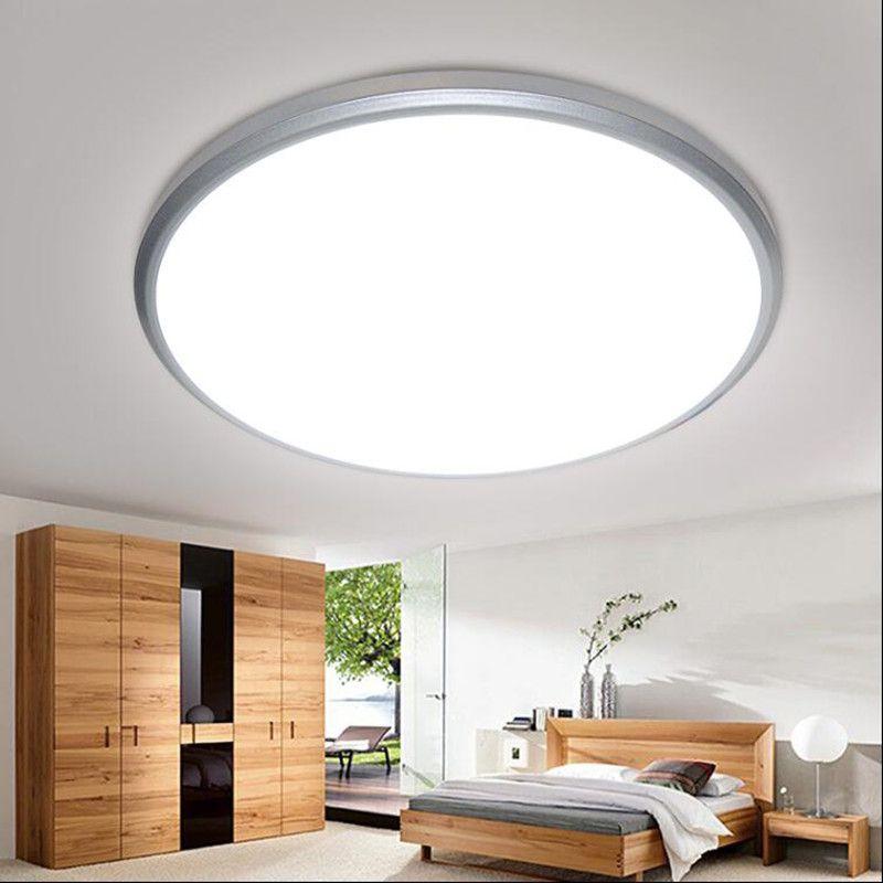 Plafonniers lampe à LED diamètre 28/38cm corps de lampe ABS matériel moulage joint étanche à la poussière dur PVC plaque intérieur LED lumières