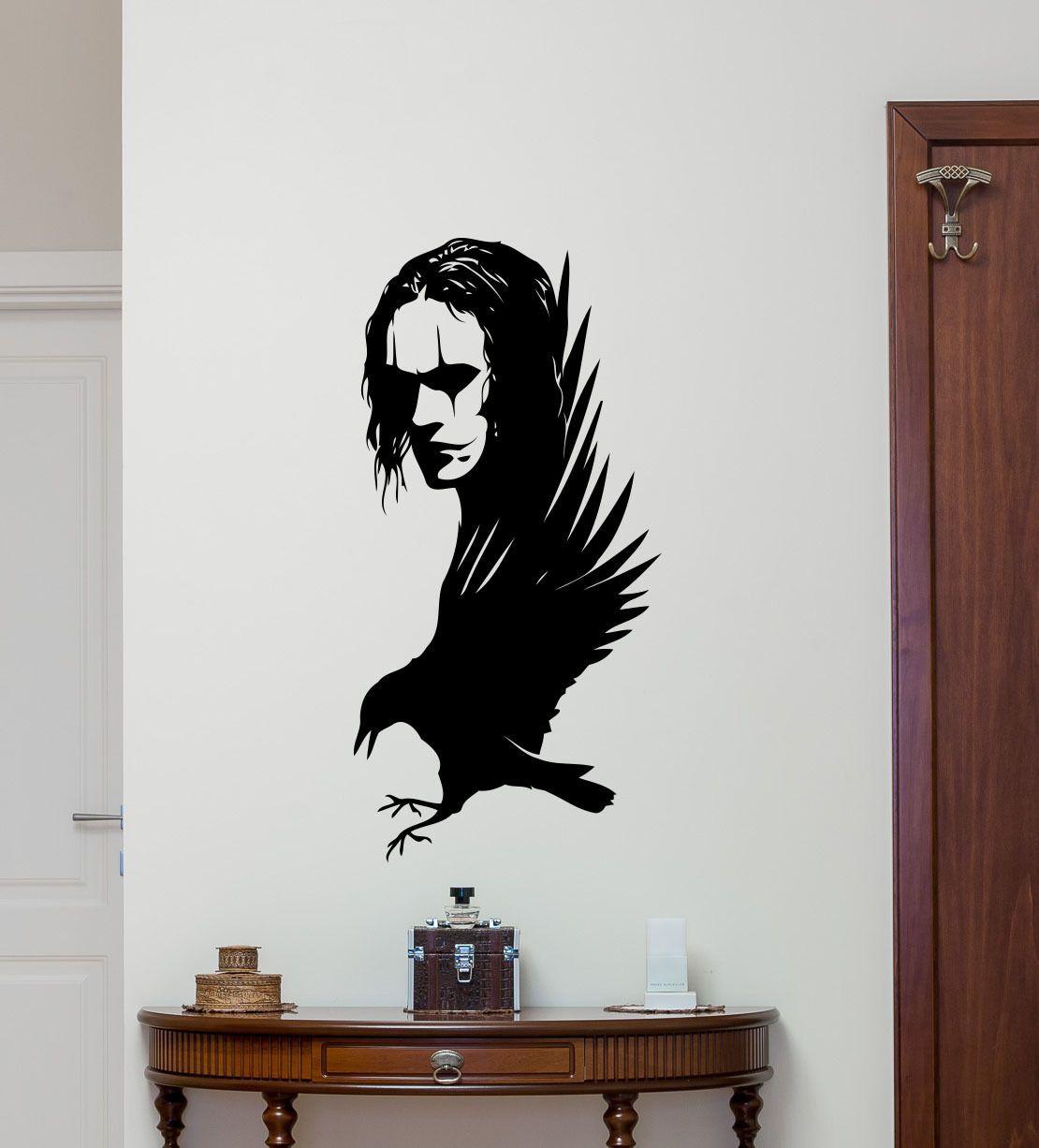 Le corbeau Sticker Mural Brandon Lee film vinyle autocollant affiche décor à la maison Art décorations salon amovible Mural E574