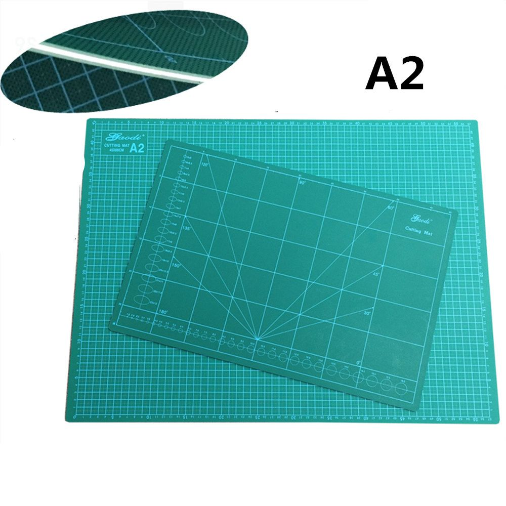 new Cutting Mat A2 Pvc Rectangle Self Healing thicker  white core  Desktop Protection Mat   Craft Dark Green 60cm * 45cm*0.3cm