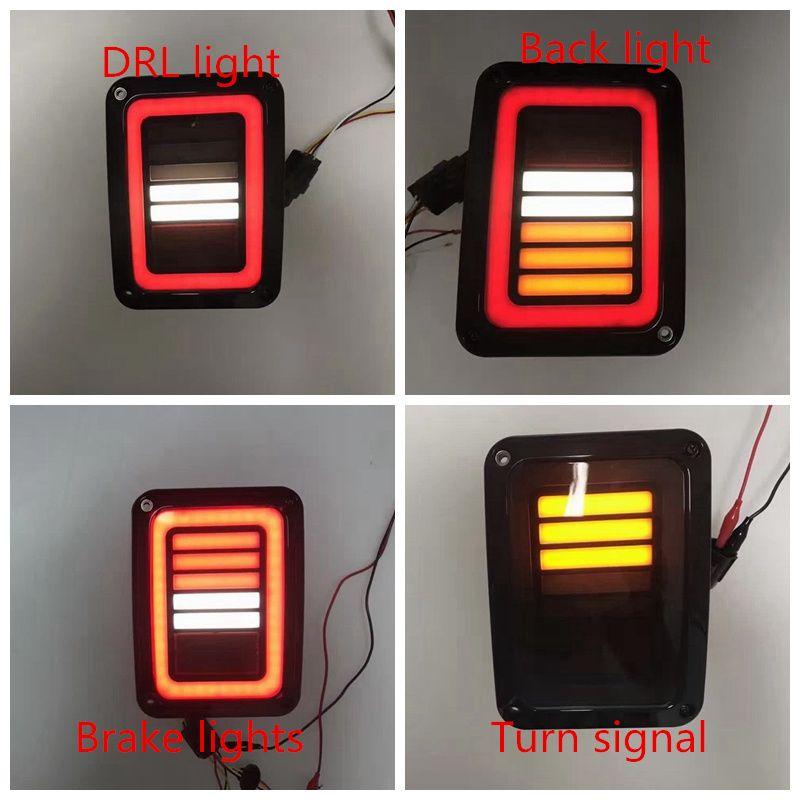 Geraucht LED Rückleuchten Für Jeep Wrangler Rückleuchten Für Jeep Wrangler JK JKU Sport, Sahara, freiheit Rubicon 2007-2016