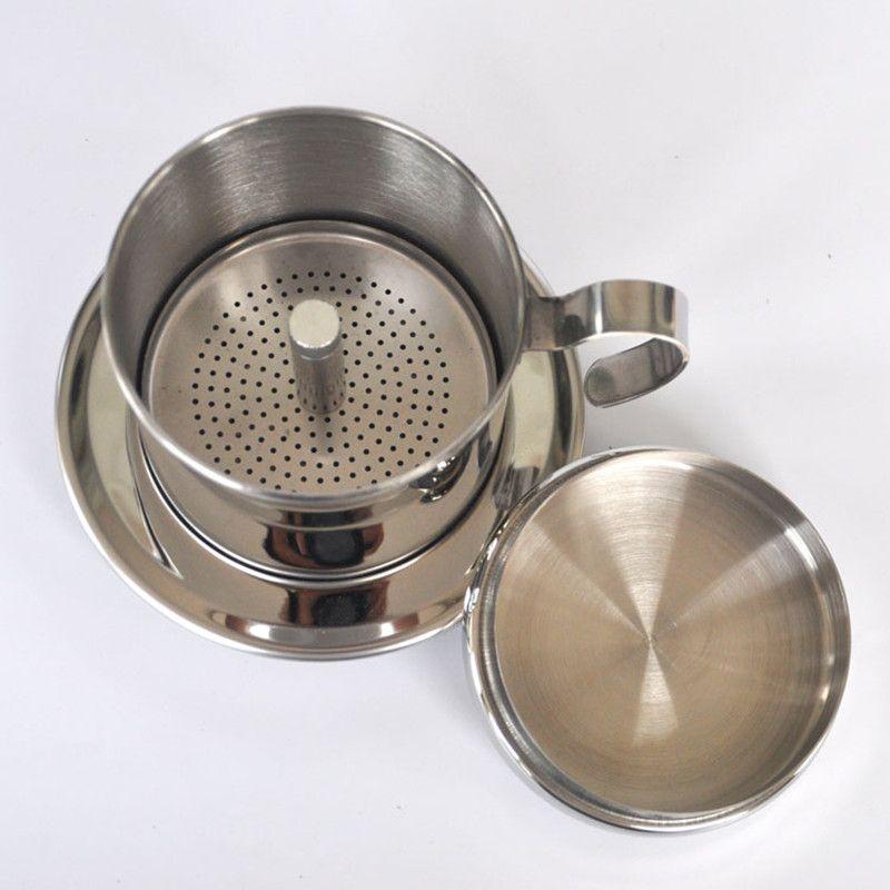 Filtre réutilisable de filtre de café du Vietnam d'acier inoxydable portatif Vietnam Pot d'égouttement de café v60 tasse de filtre de café vietnamien