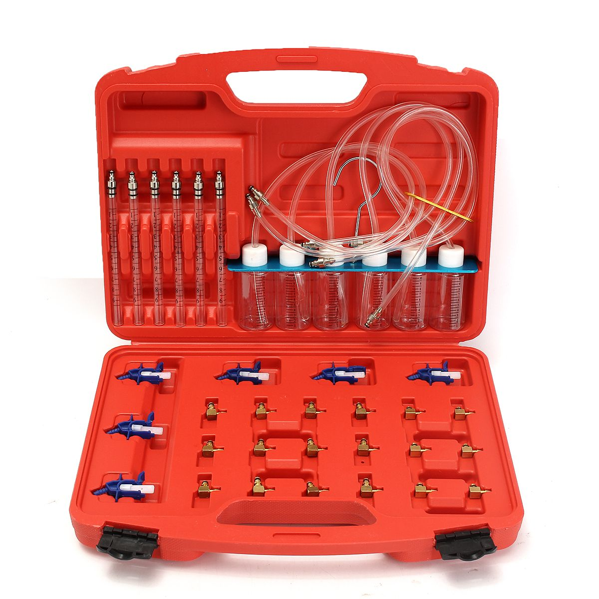 36Pcs Injector Flow Meter Adapter Test Kits For Common Rail for Diesel Fuel Tester Diagnosis Tool Set 6 injector tested together