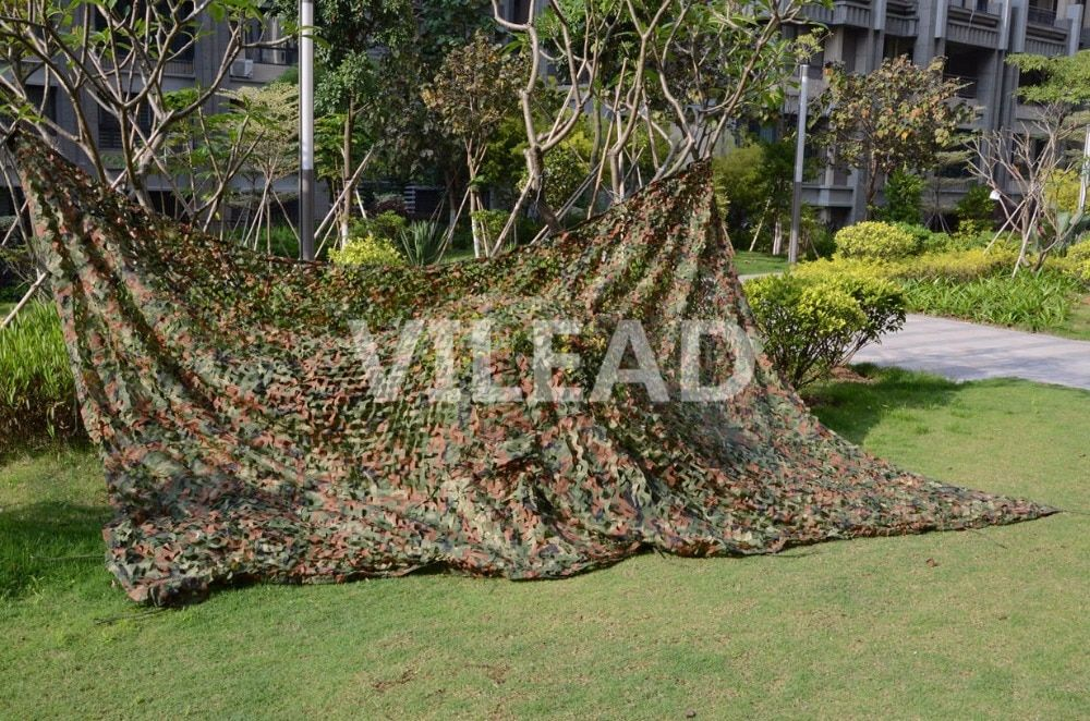 VILEAD 2M*3M Military Camping Camouflage Net Woodland Army Camo Netting Hunting Sun <font><b>Shelter</b></font> Tent Shade Net for Car Covering