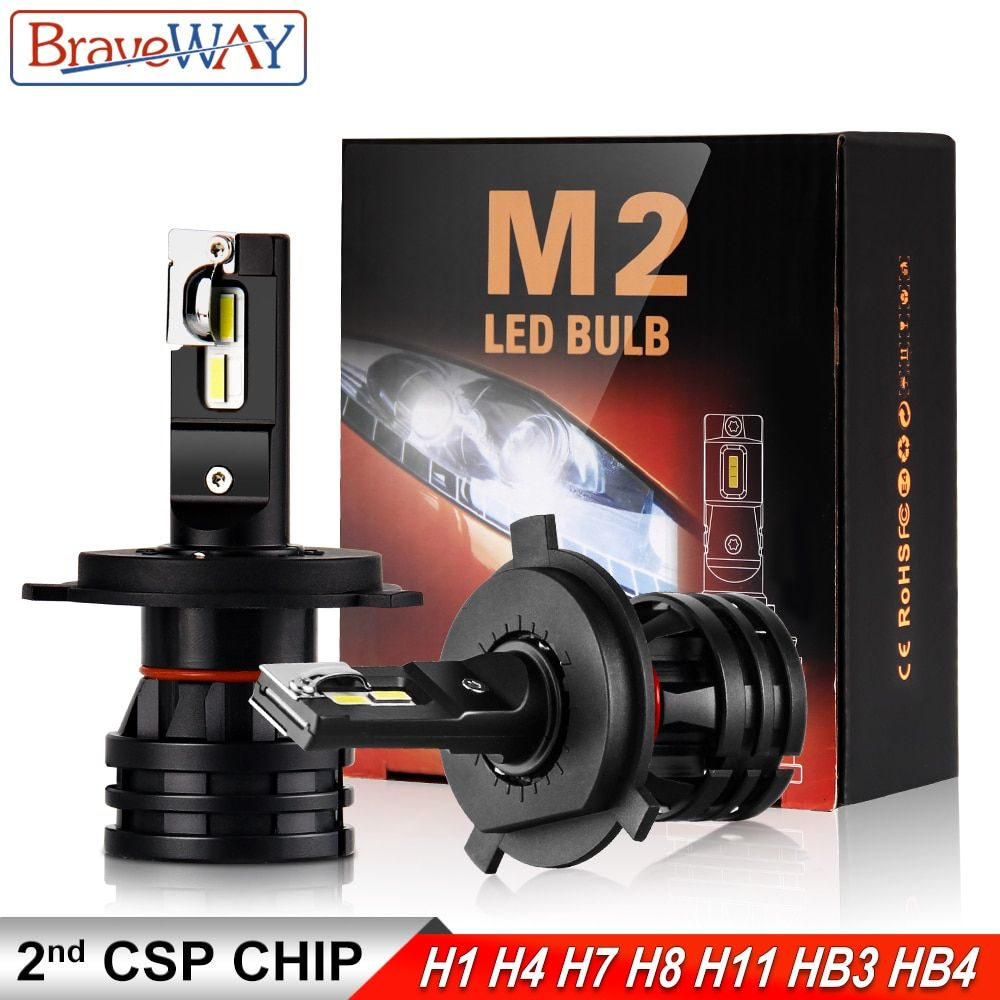 BraveWay 16000LM LED Car Light Bulbs H4 H7 H8 H9 H11 HB3 HB4 9005 9006 LED Headlight for Car Lamps Turbo Bulbs for Auto 12V 24V