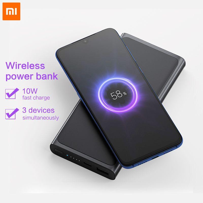 Xiao mi batterie externe sans fil 10000 mAh Qi rapide chargeur sans fil USB type C mi Powerbank PLM11ZM Portable charge batterie externe
