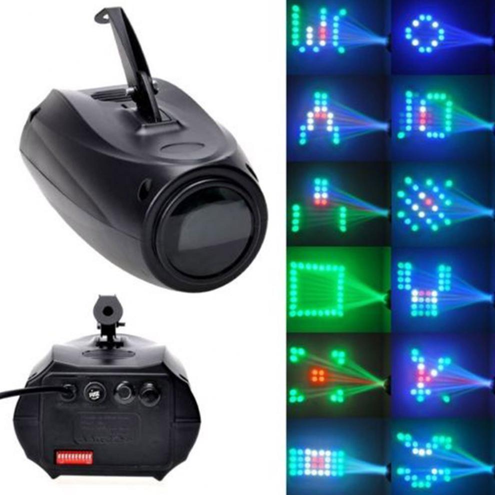 Portable Musique Auto Sound Active 64 Led RGBW Lumières Laser Stade Effet Lighting Club Disco DJ Party Bar KTV De Mariage lumières