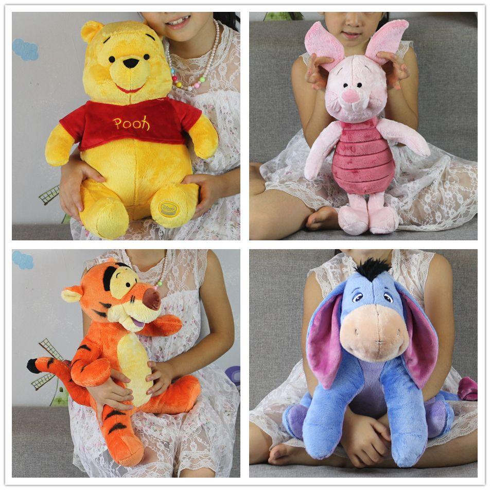 Livraison gratuite 1 pièces mickey ours et ami Kawaii rose cochon cochon tigrou bourriquet âne peluche cadeau jouets garçons fille brithday