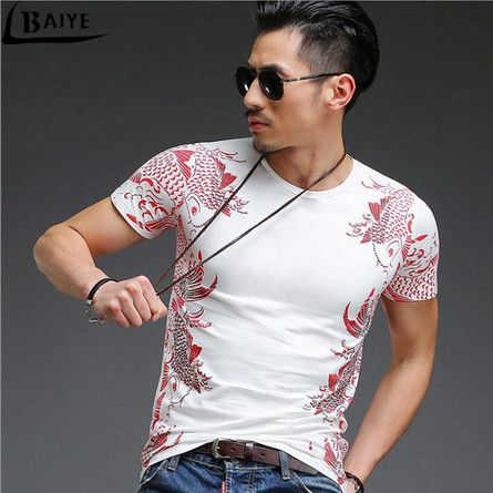 TBAIYE Fashion Men's T Shirts Newest 3D Printing <font><b>Bronzing</b></font> Summer Short Tees Casual Cotton Short Sleeve Luxury Men Brand T-shirt