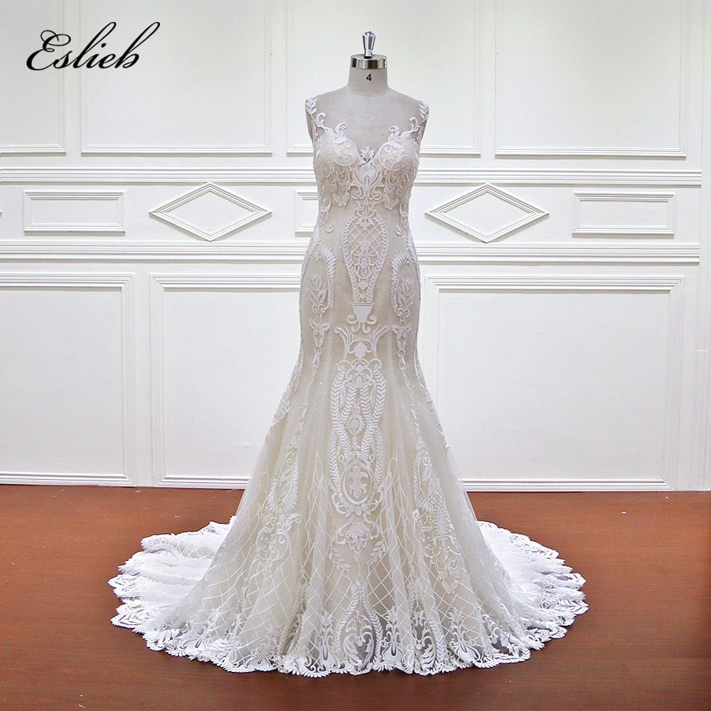Free Shipping High Quality High End Lace Tailored Special Sexy Bridal Dresses Mermaid Wedding Dress 2017 Custom made Vestido de