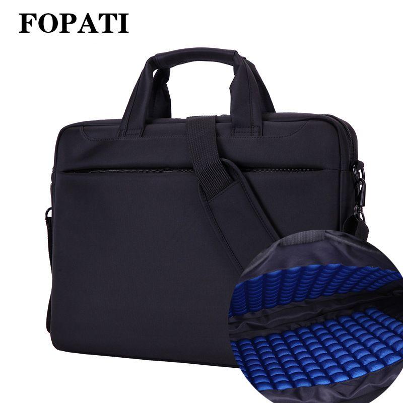 Fopati laptop 17.3 17 15.6 14 12 pulgadas nylon bolsa bolsas de ordenador impermeable hombres mujeres bolsas de mensajero portátil bolsa