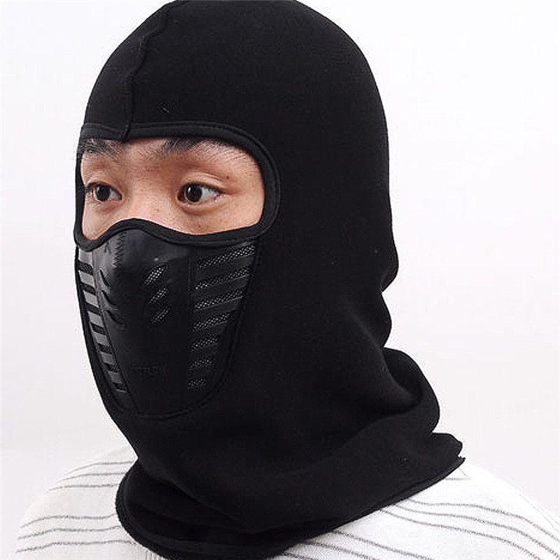 Cycling Winter Fleece Warm Full Face Cover Anti-dust Windproof Ski Mask Snowboard Hood Anti-dust Bike Thermal Balaclavas Scarf