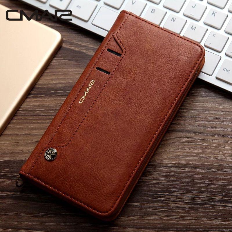 Pour iphone 7 étui de luxe support Flip portefeuille étui à rabat en cuir pour iphone 6 6s 6plus 7 7plus 8 8plus X XS XR XS Max 6.5