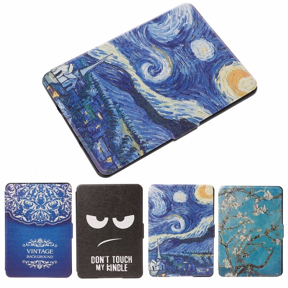 Waterproof Slim Faux Leather Folio Flip Case Protective Shell Skin Cover For Amazon Kindle Paperwhite 1/2/3 6 Inch