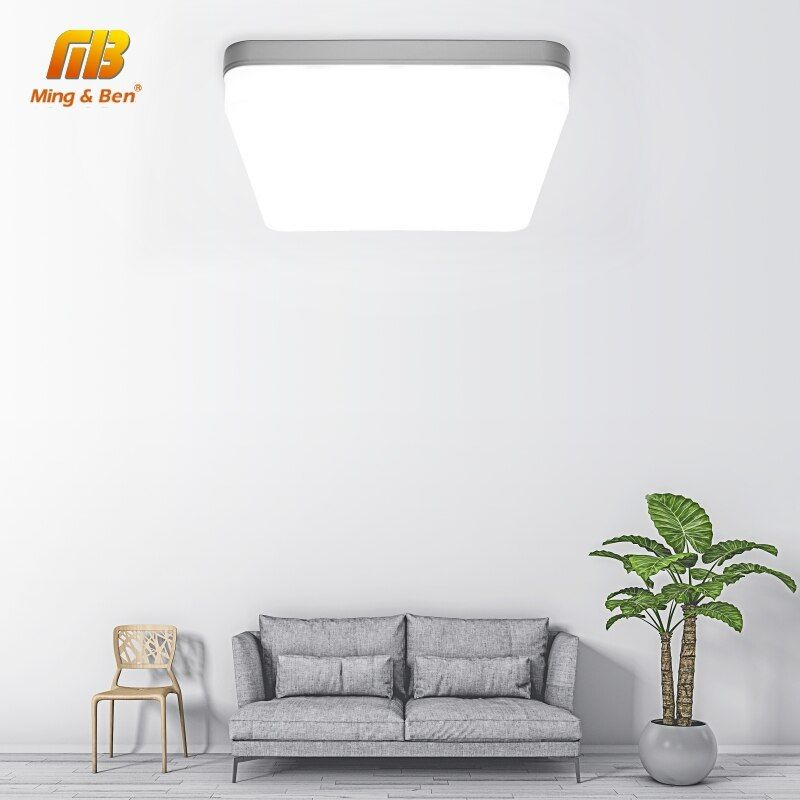 Panneau LED carré 18W 24W 36W 48W LED plafonnier de Surface AC85-265V plafonnier rond pour l'éclairage à la maison de décoration