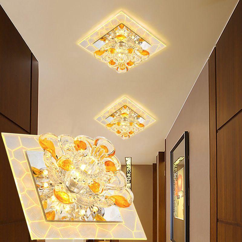 LAIMAIK Kristall Led-deckenleuchte 3 Watt 5 Watt AC90-260V Moderne LED kristall Gang Korridor Licht Veranda Halle FÜHRTE Deckenleuchte FÜHRTE licht