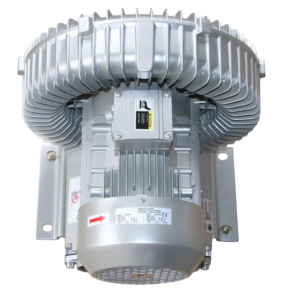2RB630-7AH26 3KW/3.45KW hochdruck luft kapazität ring gebläse vakuum pumpe luft kompressor