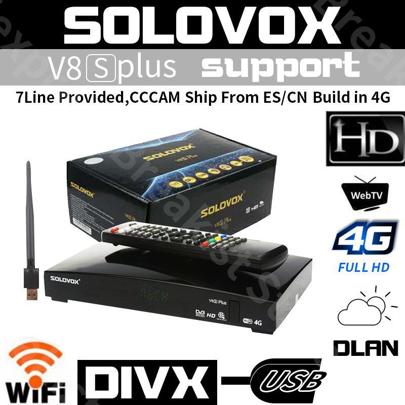 Openbox V8S Plus DVB-S2 récepteur Satellite numérique S-V8 WEBTV Biss clé 2x USB Slot USB Wifi 3G youporno CCCAM pour le royaume-uni Europe