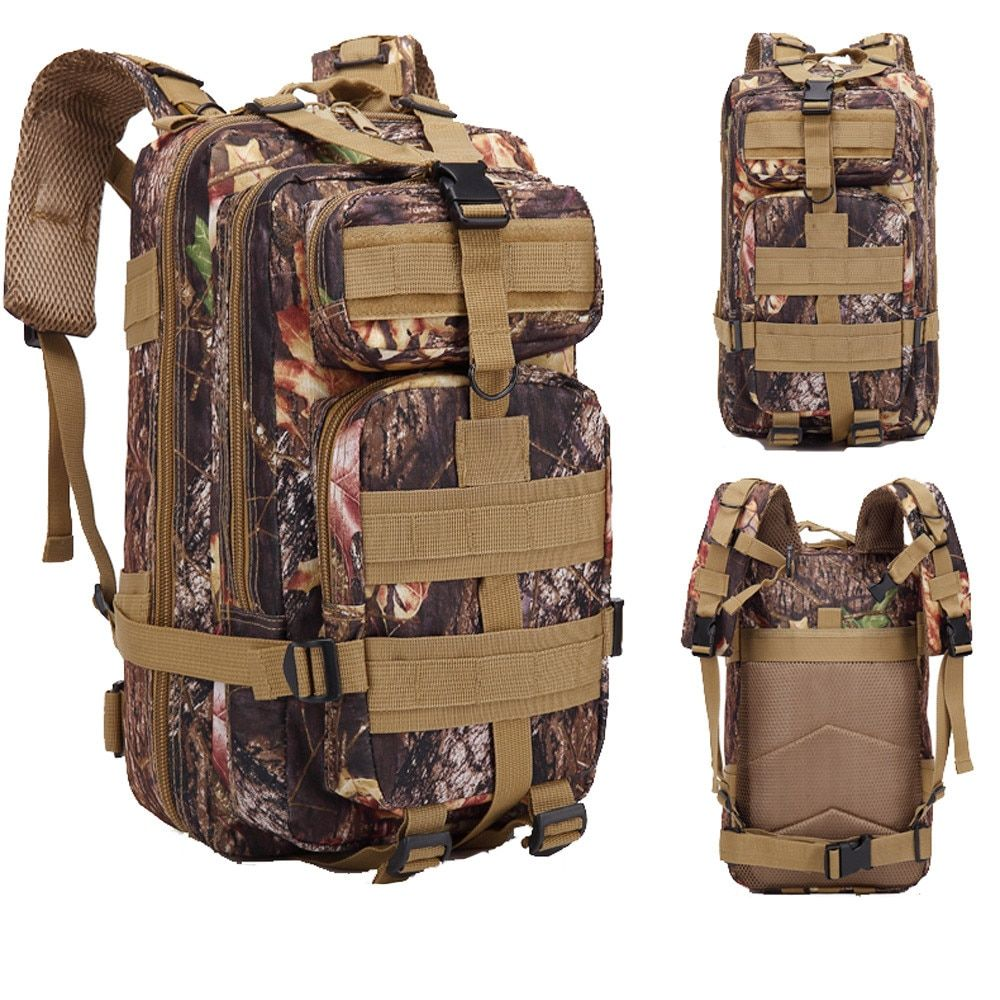 30L Mountaineering Men Camouflage Backpack Bag Male Travel Tip Fold Package Plus Size Large Backpacks Design Bucket Tote Bags#23