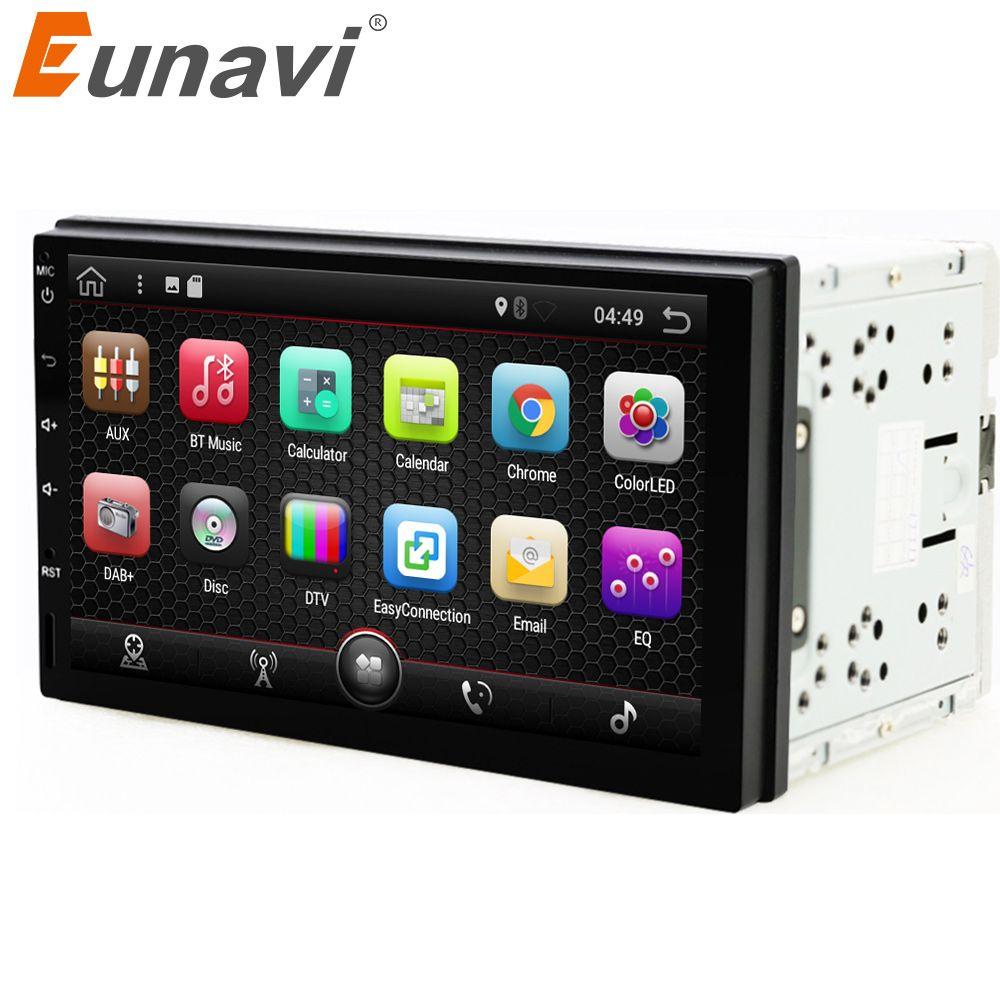 Eunavi 2 din 7 inch android 7.1 Universal Car Player for juke qashqai almera x trail note X-TRAIL sentra for Nissan GPS+2din+OBD