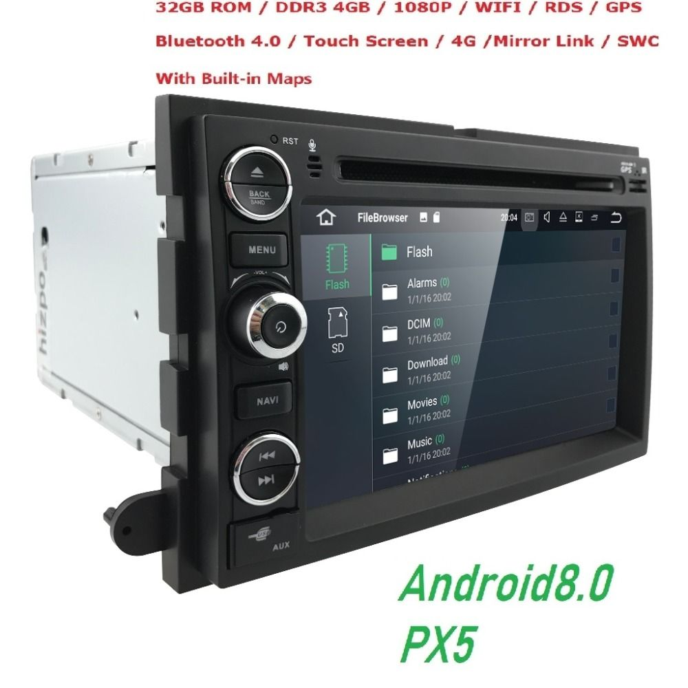 Android8.0 4GB+32GB Car DVD Player GPS Navigation for Ford F150 F250/F350 Explorer Edge Mustang Escape Mercury Milan Mountaineer