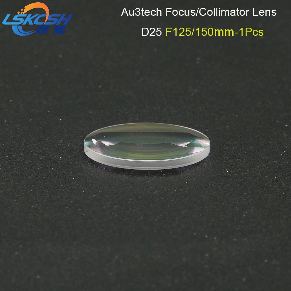 LSKCSH Faser Laser Kollimator Objektiv/Fokus Objektiv D25 F125/150mm 1 stücke für Au3tech Faser Laser schneiden kopf MC100-QCS Professionelle