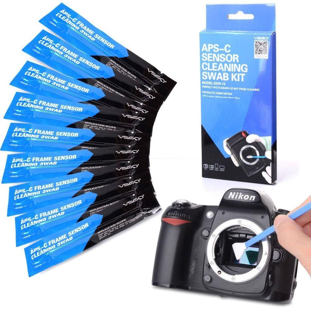 VSGO Caméra Kit De Nettoyage Capteur DDR-15 10 pièces Sensoe Écouvillons pour Nikon REFLEX Numérique Caméras Nettoyage
