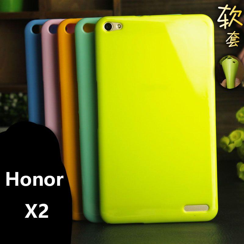 Honor X2 étui souple 7.0 pouces solide couleur silicone TPU anti-coup étui pour huawei Honor X2