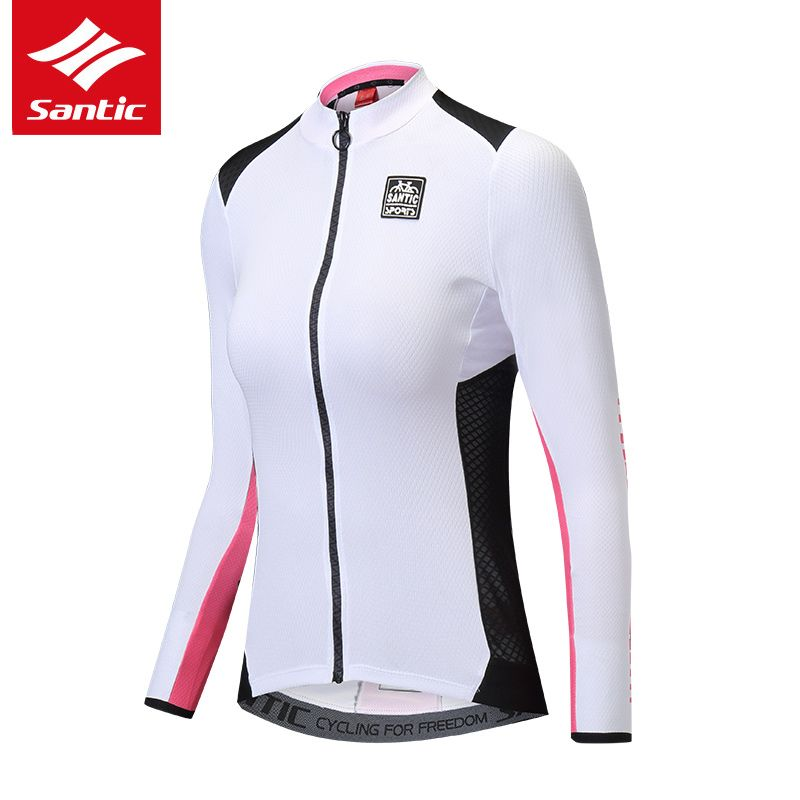 Santic Cycling Jersey Women Long Sleeve Spring Summer MTB Road Bike Jersey Anti-UV Breathable Bicycle Jersey 2018 Ropa Ciclismo