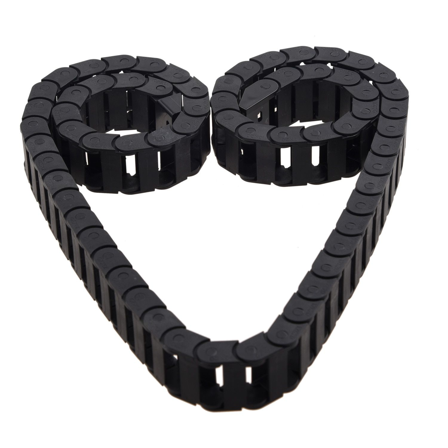 Transmission Chains 10 x 20mm 1M Open On Both Side Plastic Towline Cable Drag Chain