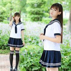 Школьная форма набор студент галстук для костюма костюм моряка набор Настольный костюм японская школьная форма для девочек Лето