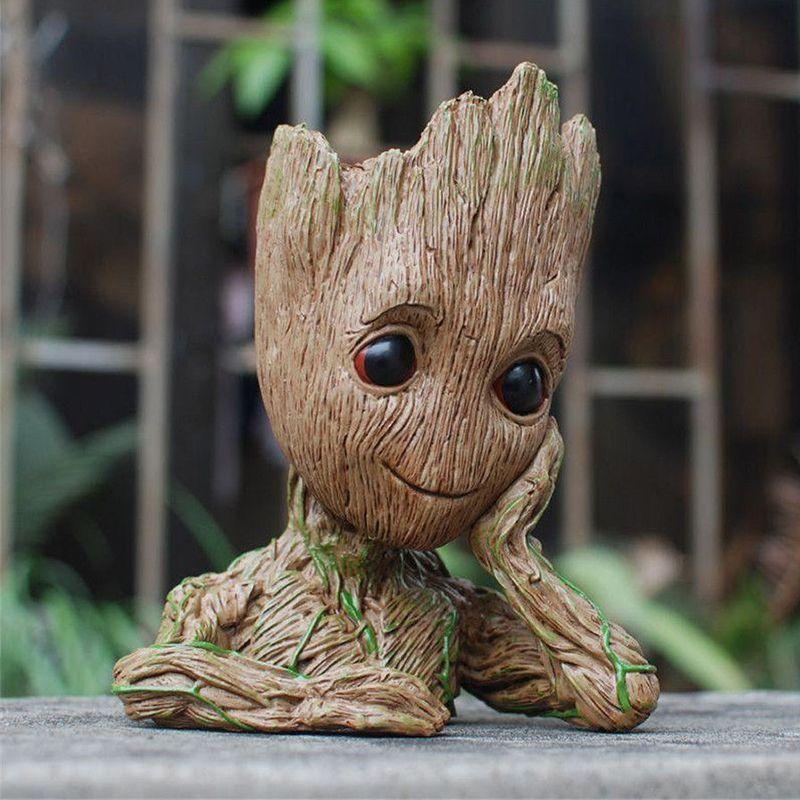 Guardians of The Galaxy Avengers Action Figure Model Toy Flowerpot Baby Tree Man Macetero Pen Planter Flower Pot Drop Shipping