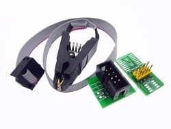 update version SOIC8 SOP8 Test Clip For EEPROM 93CXX / 25CXX / 24CXX in-circuit programming+2 adapters