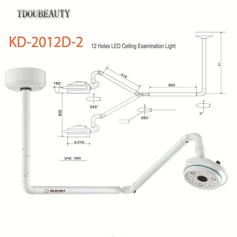 Universal Spannung Verbesserte KD-2012D-2 36 W Decke Montiert LED Chirurgische Medizinische Exam Licht Schatten Lampe Schönheit Krankenhaus Licht