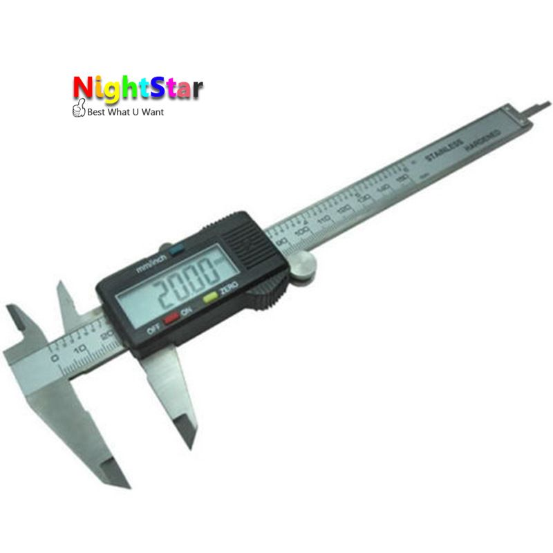 150mm Stainless Steel Electronic Digital Vernier Caliper Micrometer Guage LCD Micrometer Measuring NO BOX
