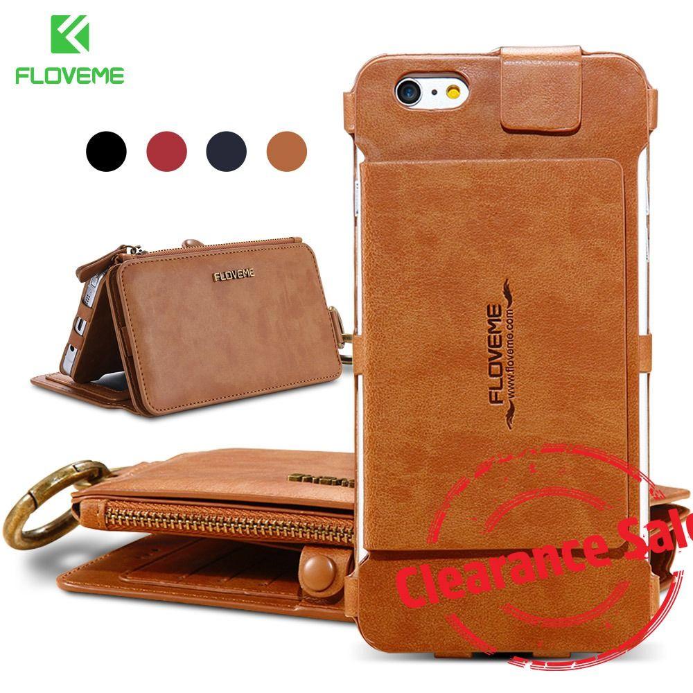 FLOVEME fente pour carte portefeuille étui pour samsung S9 S6 S7 Edge Plus couverture en cuir rétro pour iPhone X 6 6 s 7 8 Plus 5 coques de téléphone Fundas