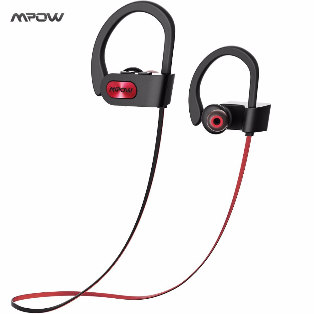 Original Mpow 2017 Bluetooth 4.1 Headphones IPX7 Waterproof Earbuds Wireless Sports Earphones High Quality Music for iOS Android