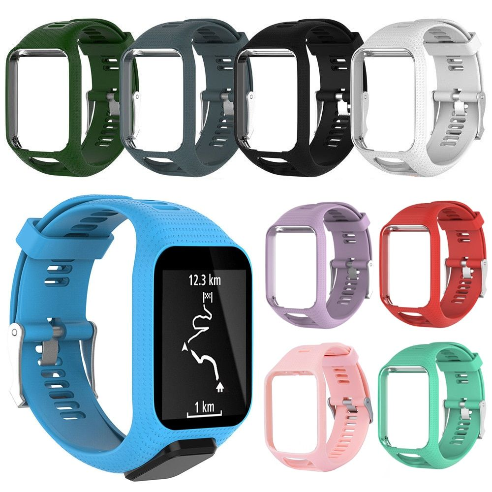 9 Colors Silicone Replacement Wrist Band Strap For TomTom Golfer 2 Adventurer Runner 2 3 Spark 3 Sport GPS Watch