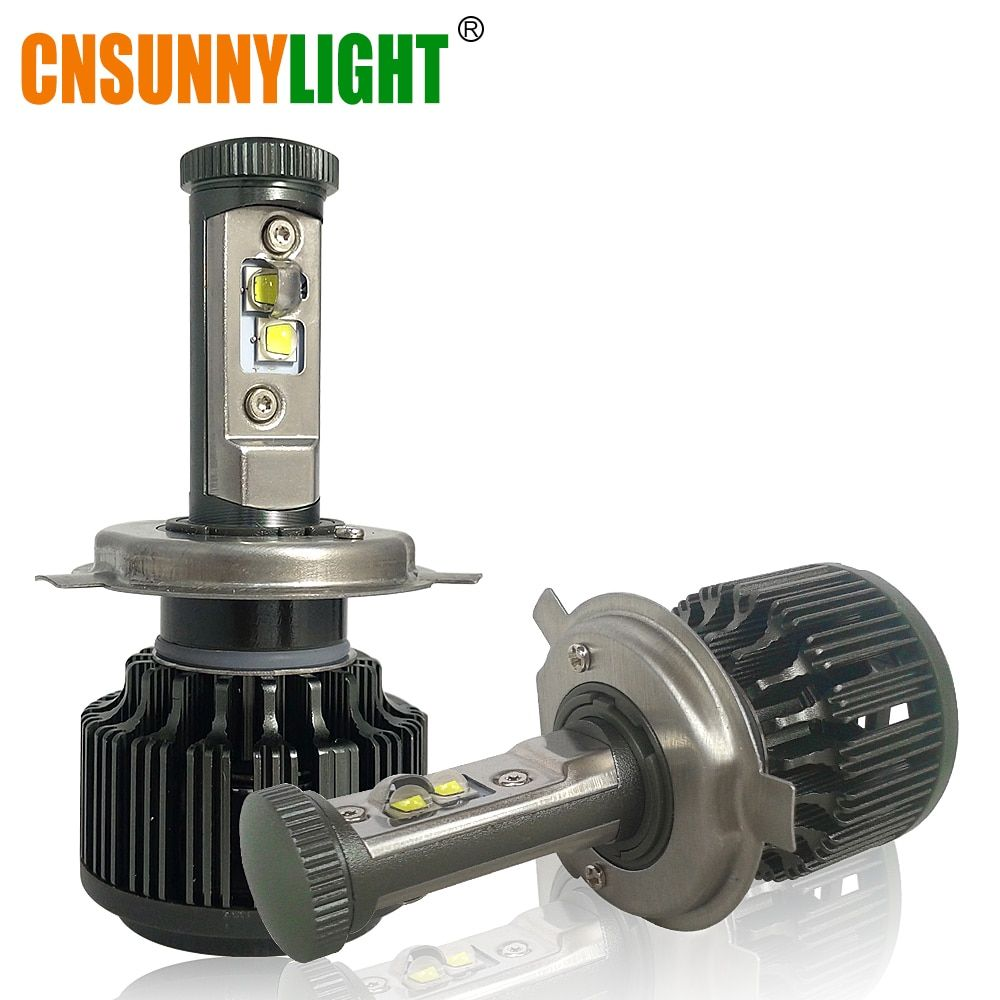 CNSUNNYLIGHT H4 Hi/Lo H7 H11 9005 9006 LED Car Headlights 8000lm 3000K 4300K 6000K High Brightness Auto <font><b>Lights</b></font> Conversion Kit