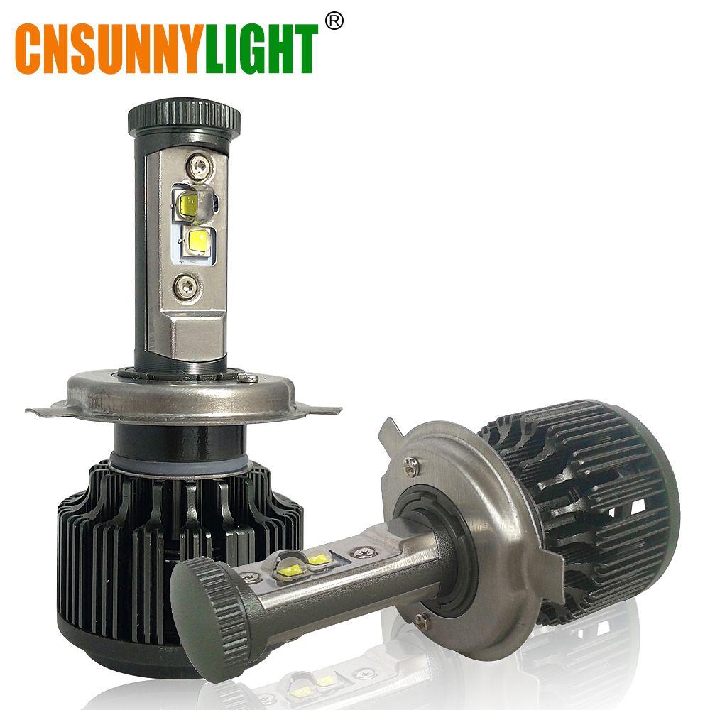 CNSUNNYLIGHT H4 Hi/Lo H7 H11 9005 9006 LED phares de voiture 8000lm 3000 K 4300 K 6000 K Kit de Conversion de lumières Auto haute luminosité