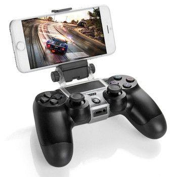 Spiel Controller Halter Clip Montieren Gamepad Cradle Erweiterbar Handy Stehen mit OTG Kabel für Sony PlayStation PS4