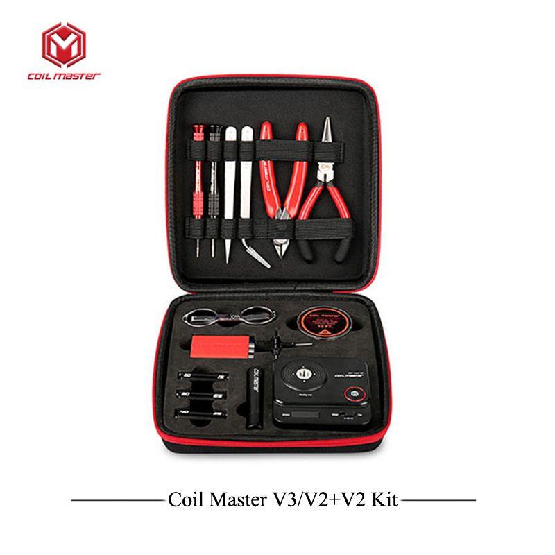 Update Coil Master V3 DIY Kit All-in-One CoilMaster V3+ Electronic Cigarette RDA Atomizer coil tool bag Accessories Vape vaper