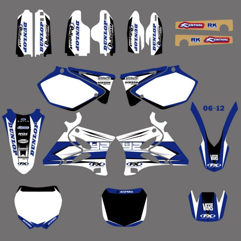 GRAPHICS & BACKGROUNDS DECALS STICKERS Kits for Yamaha YZ125 YZ250 2002 03 04 05 06 07 08 2009 2010 11 2012 YZ 125 250